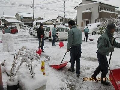 寒波到来、大雪になりました。