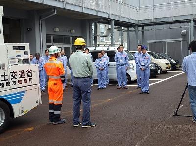 平成30年北海道胆振東部地震被災地へ照明車の移送任務を行う