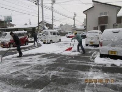 本格的な積雪になりました。