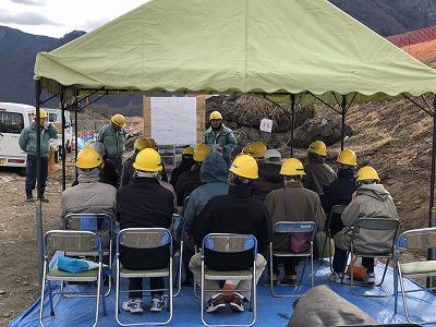 網掛護岸災害復旧工事現場見学会を開催しました。