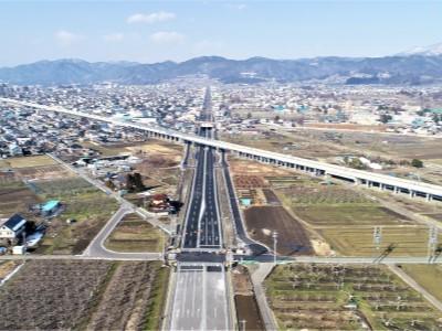 都市計画道路北部幹線 長野高専南 ~ 古里小学校前交差点区間が開通しました