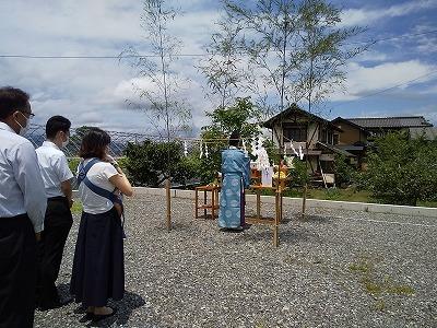 kawaken住宅だより―須坂市井上分譲地にて地鎮祭を行いました―